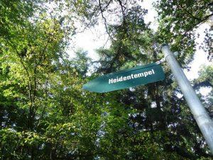 Der Heidentempel ist unsere nächste Station auf dem Hexenpfad in Tecklenburg.