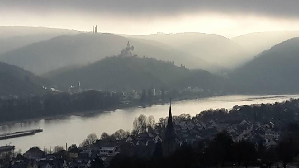 Blick auf Braubach und die Marksburg