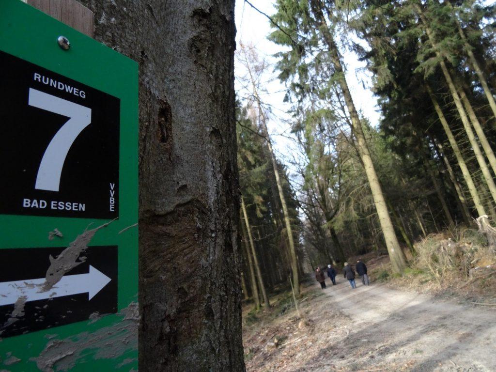 Schild Wanderweg 7