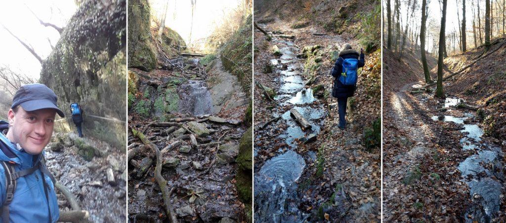 Durch die Ruppertsklamm führt uns die Rheinsteig Etappe 10 hinab nach Lahnstein.