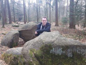 Am Großsteingrab in den Dammer Bergen