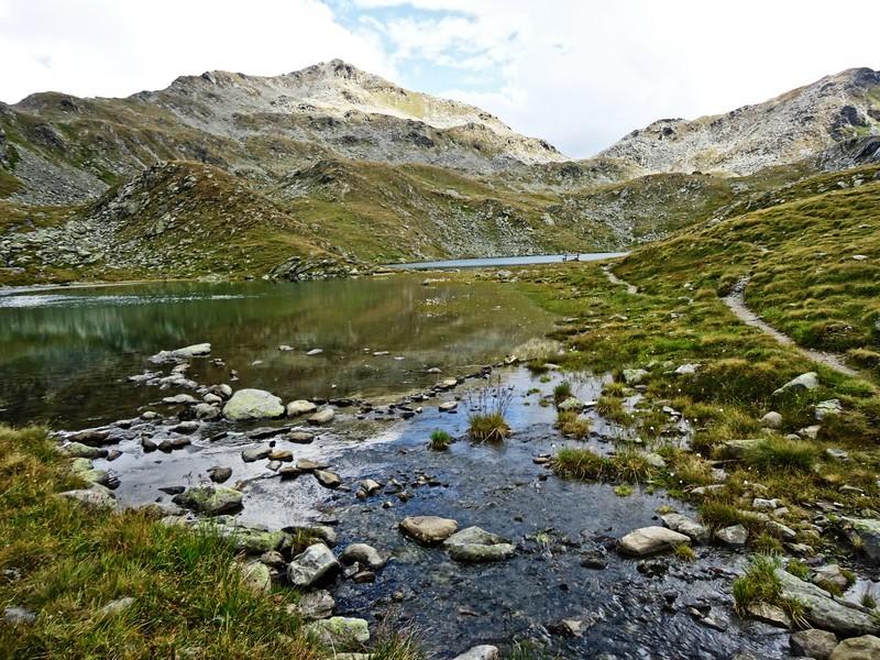 Ein letzter Blick auf die Gritzer Seen, dann geht es zurück zur Speikbodenhütte.