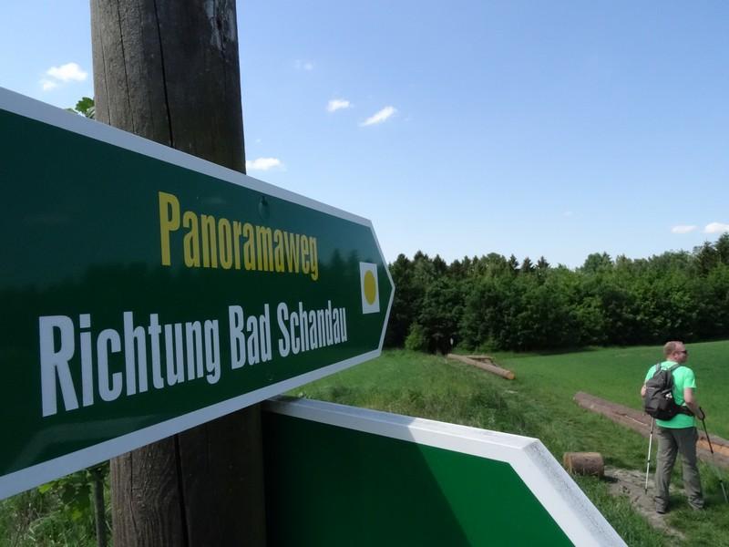 Geleitet uns von nun an zum Ziel: der Panoramaweg Bad Schandau.
