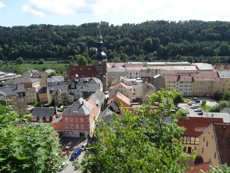 Blick vom Schlossberg auf Bad Schandau