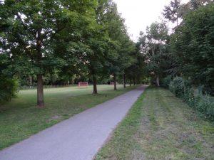 Zwischen Bolzplatz und botanischem Garten führt uns unser Weg weiter.