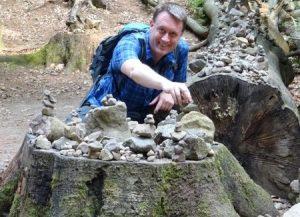 Steinmanderl trifft man außerhalb der Alpen eigentlich eher selten.