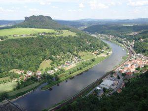 Blick über die Elbe vom Königstein.