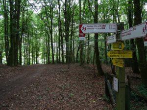 Wanderwege-Treffpunkt und Ausgangspunkt und Ziel unserer Tour auf dem TERRA.track Ganz oben.