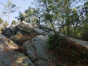 Das Erklimmen der Felsen lassen wir uns natürlich nicht entgehen!