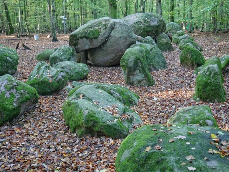 Den ersten Teil der Namensgeber für die Teutoschleife Sloopsteener Seenrunde treffen wir gleich zu Beginn: Die großen Sloopsteine in Lotte-Wersen.