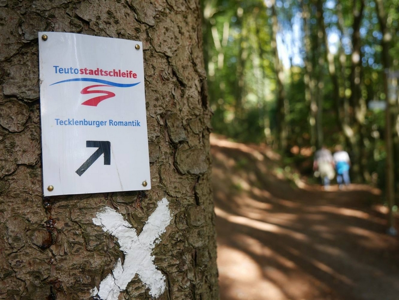 Die Teutostadtschleife Tecklenburger Romantik hält, was sie verspricht. Es gibt viel Tecklenburg und viel Romantik!