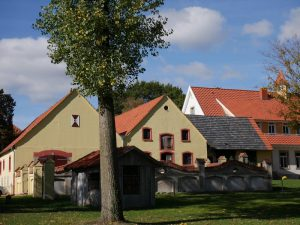 Das ehemalige Rittergut Haus Hülshoff nimmt uns in Empfang.