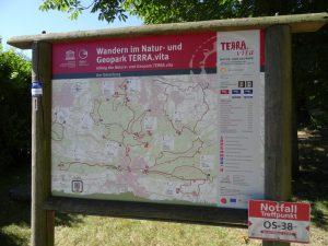 Ebenfalls wichtiger Bestandteil der Aufwertung: Die Übersichtskarten an den wichtigsten Wanderparkplätzen in der Region geben Auskunft über die umliegenden TERRA.tracks.