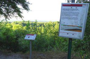 Weitere Info-Tafeln finden sich mitunter entlang der Tracks, wie hier auf dem Geologischen Lehrpfad auf dem Hüggel in Hasbergen.