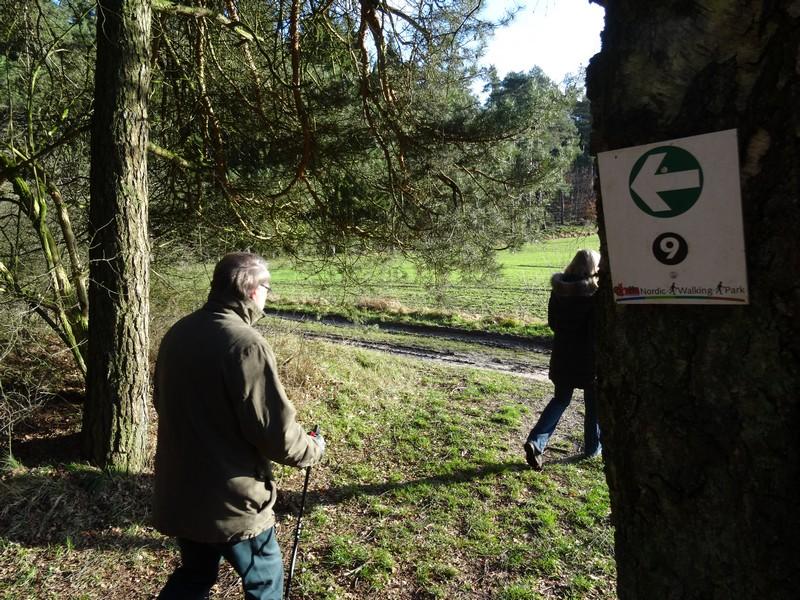 Die Nordic Walking Route Nr. 9 ist durchgängig ausgeschildert. Hier und da fehlt ein Schild, aber wer vorher einen Blick auf die Karte wirft, sollte zurecht kommen.