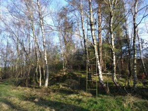 Einziger Aussichtspunkt an der Nordic Walking Route Nr. 9.