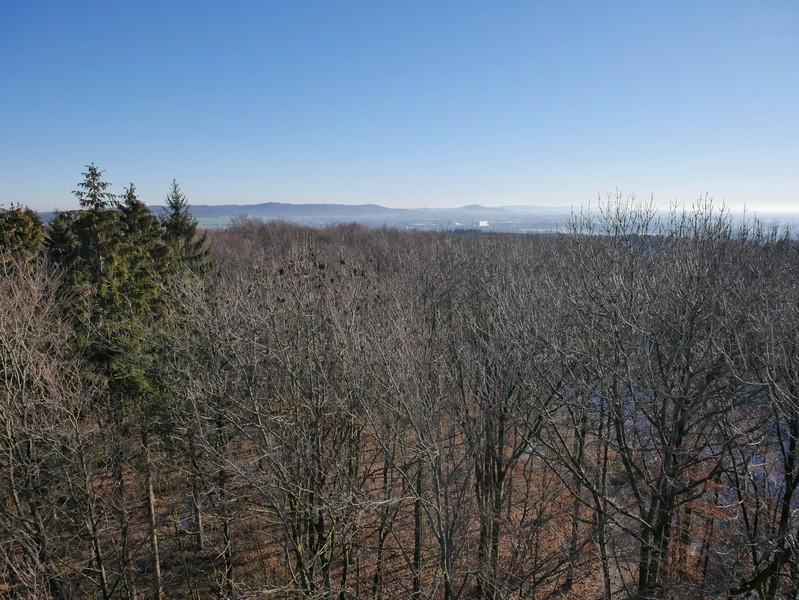 Ausblick vom Aussichtsturm Lüdenstein