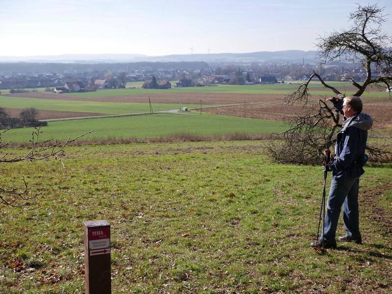 Wunderbarer Weitblick über Westerhausen vom TERRA.track Oldendorfer Aussichten