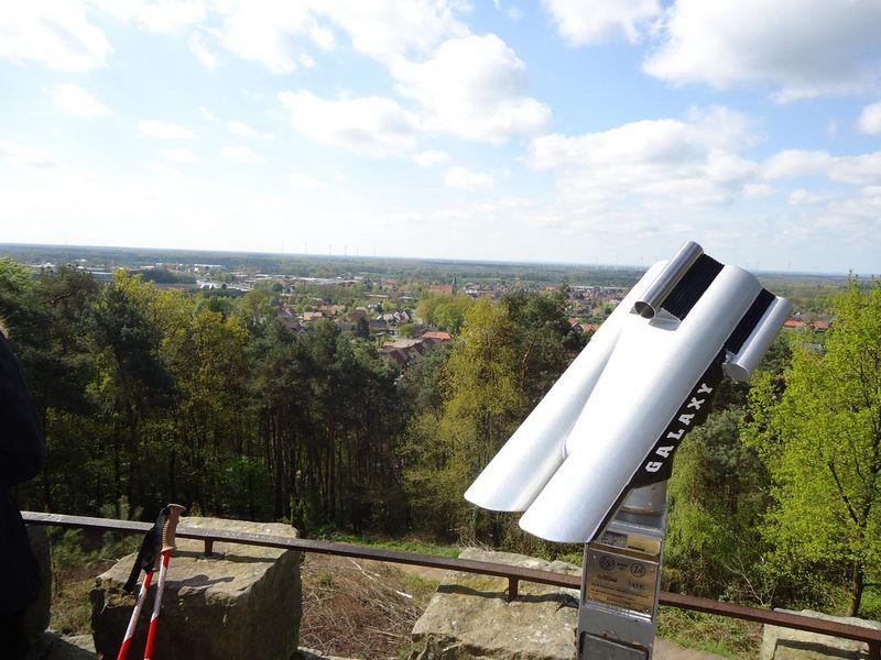 Ausblick von der Kanzel Schöne Aussicht auf Riesenbeck und das Münsterland