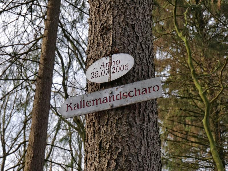Schild Kallemandscharo