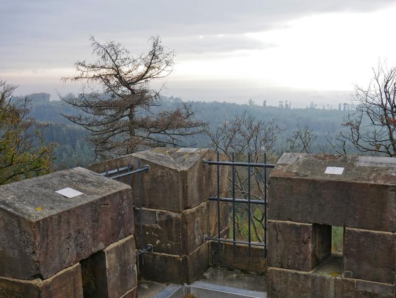 Das Bild zeigt die Aussicht vom Turm der Diedrichsburg.