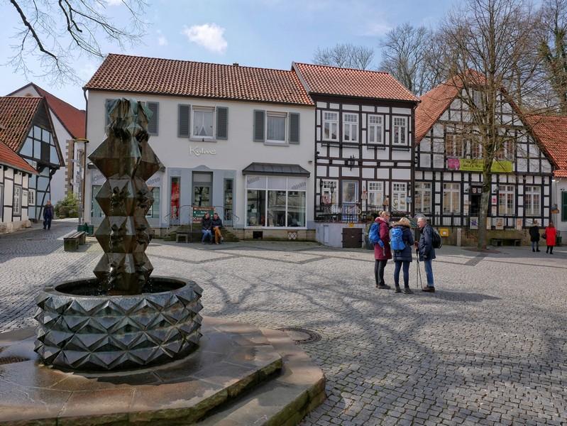 Das Bild zeigt den Marktplatz in Tecklenburg.