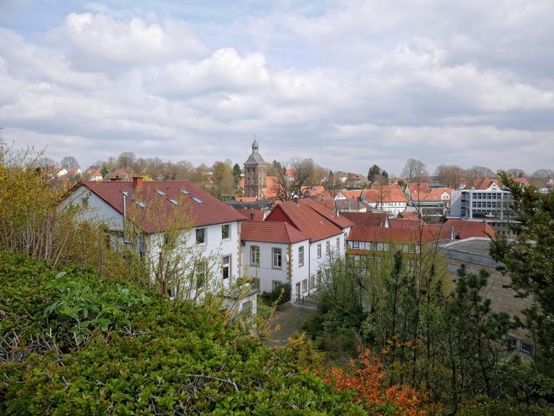Das Bild zeigt den Blick auf Tecklenburg vom Teutoschleifchen Modersohns Spuren aus.