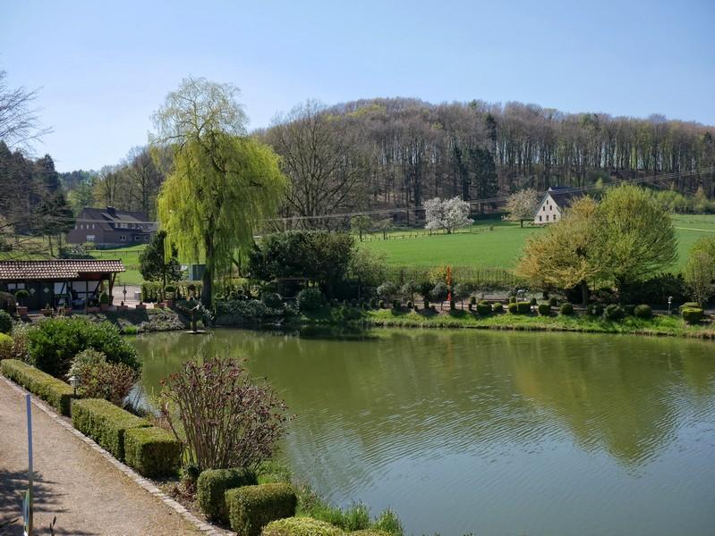 Das Bild zeigt die Gartenanlage des Renkenörener Sees.