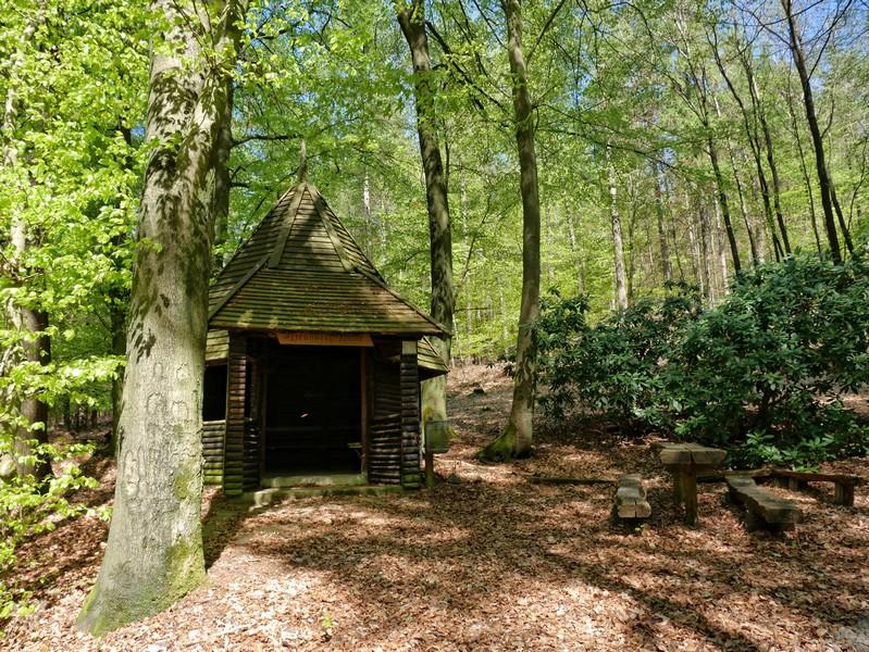 Das Bild zeigt die nächste Schutzhütte auf dem DiVa Walk.