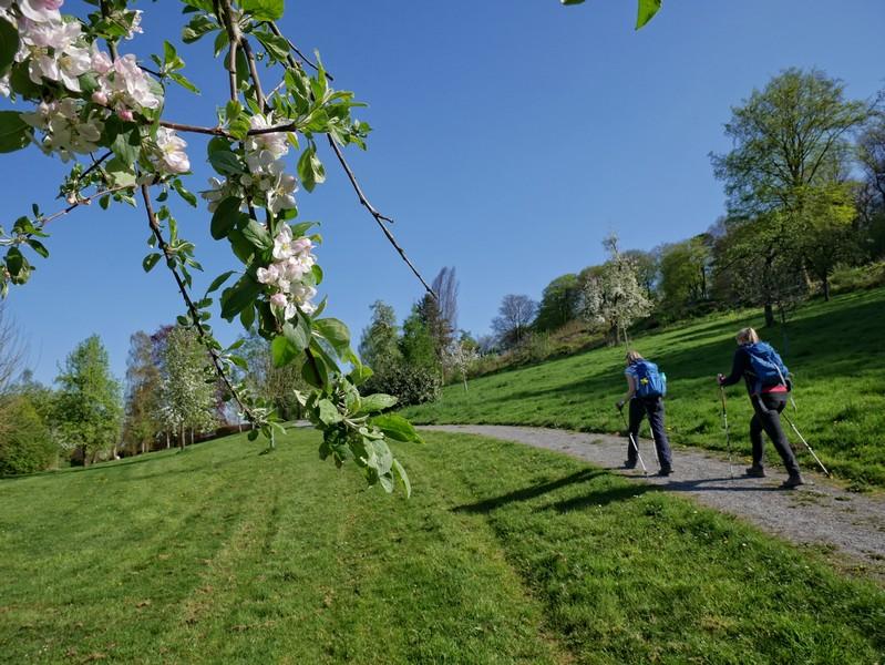 Das Bild zeigt Meike und Svenja im Kurpark in Bad Essen.