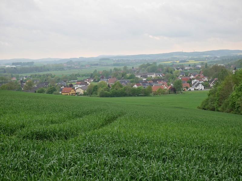 Das Bild zeigt die Aussicht vom TERRA.track Meller Balkon.