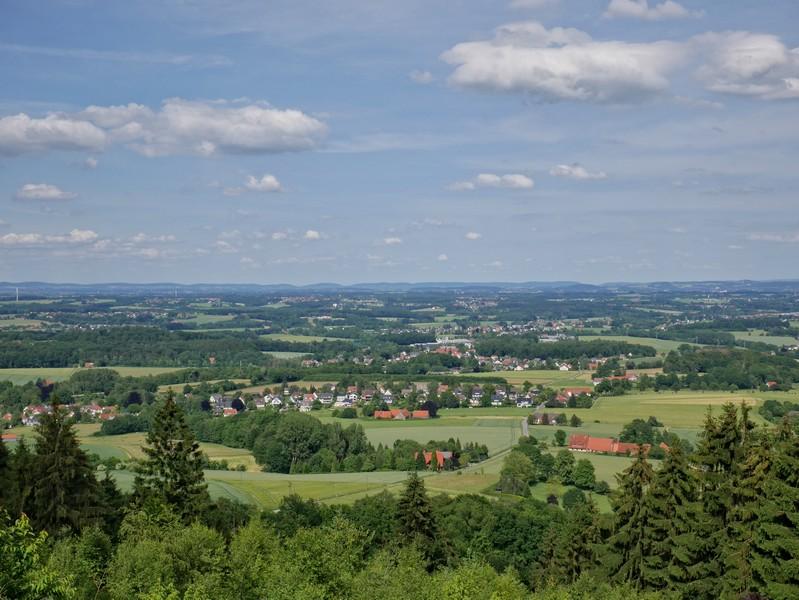 Eine tolle Aussicht bietet sich uns vom Gipfel des Bußbergs und der Schwedenschanze aus.
