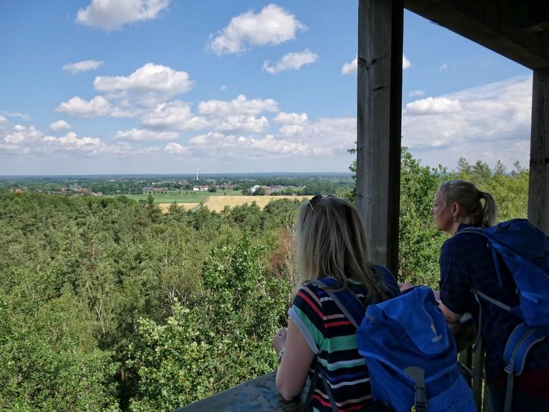 Das Bild zeigt die Aussicht vom Förderturm Buchholz.