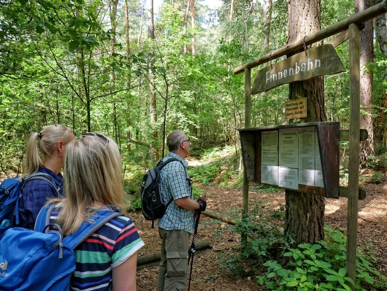 Die Finnenbahn ist eine beliebte Waldlaufstrecke direkt am Wegesrand.