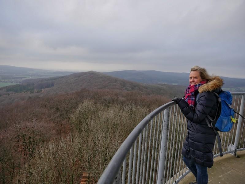 Wir schauen über den Kamm des Teutoburger Waldes...