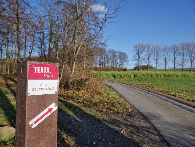 Der TERRA.track Alte Bauernschaft ist durchgängig und sehr zuverlässig markiert.