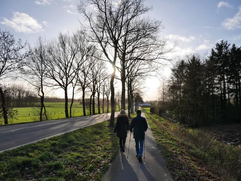 Dann folgt ein kurzer Abschnitt an der Wallenhorster Straße.