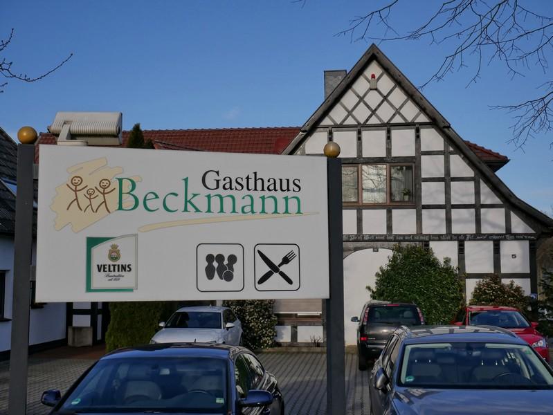 Das Gasthaus Beckmann ermöglicht uns eine Einkehr fast zum Abschluss auf dem TERRA.track Alte Bauernschaft.