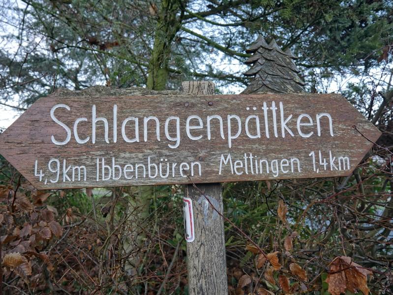 Das Schlangenpättken führt von Mettingen nach Ibbenbüren und lässt sich gut mit dem Drei-Täler-Weg, der dann zurück führt, verbinden.