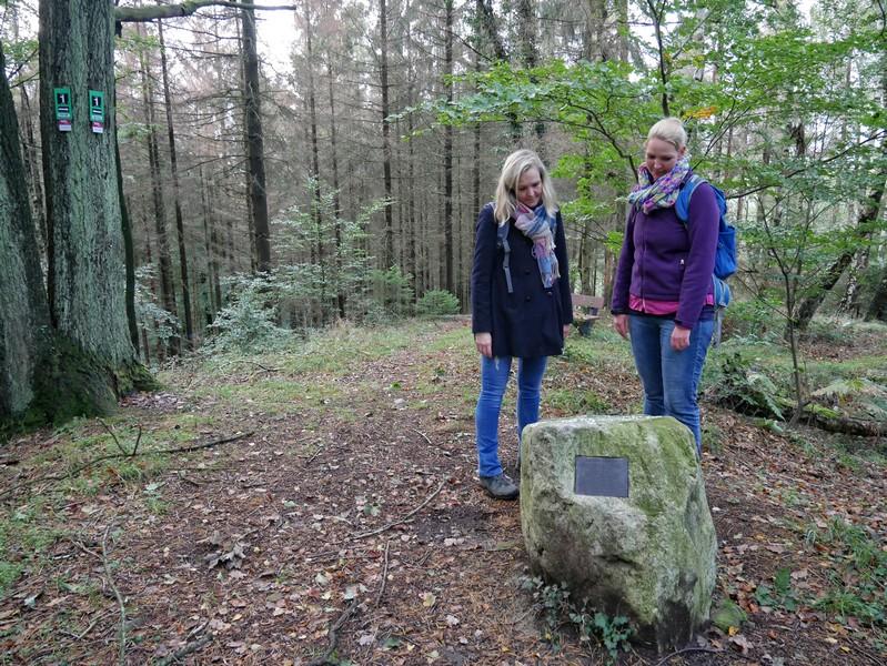 Wenig später erreichen wir den Eichendorff-Gedenkstein.