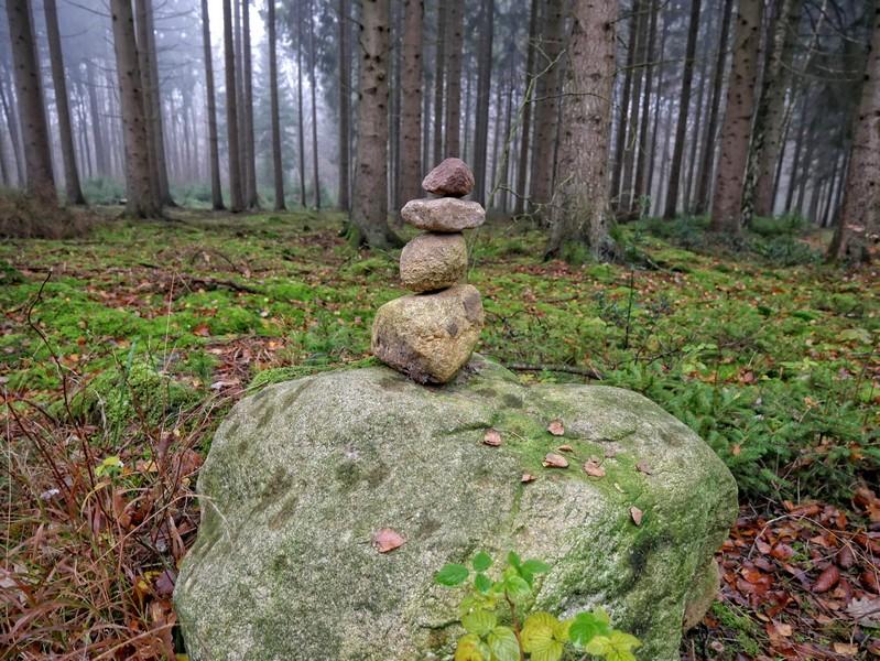 Wenn wir uns dem Schaugarten und dem Atelier nähern, treffen immer öfter auf naturverbundene Kunstwerke...