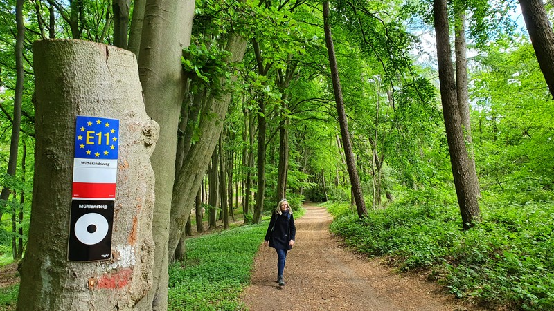 Der Wittekindsweg ist übrigens Teil des europäischen Fernwanderweges E11.