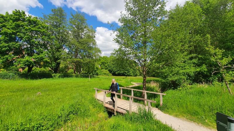 Durch den hübschen Park führt uns die Wertherberg Tour zurück zum Ausgangspunkt.