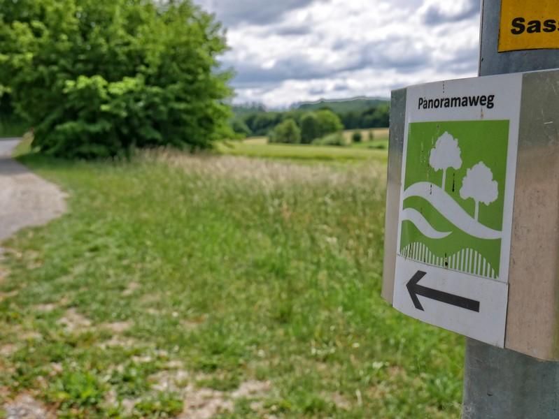 Durchgängig gut markiert nimmt uns der Panoramaweg Borgholzhausen auf elf Kilometern bei der Hand.