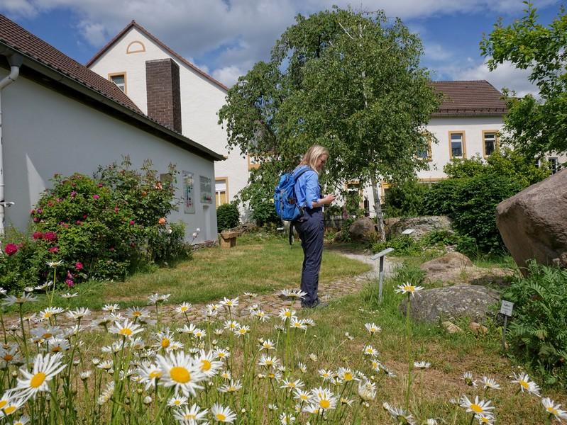 Im geologischen Garten hinter dem Heimathaus können wir einen Ausflug in die Erdgeschichte unternehmen.