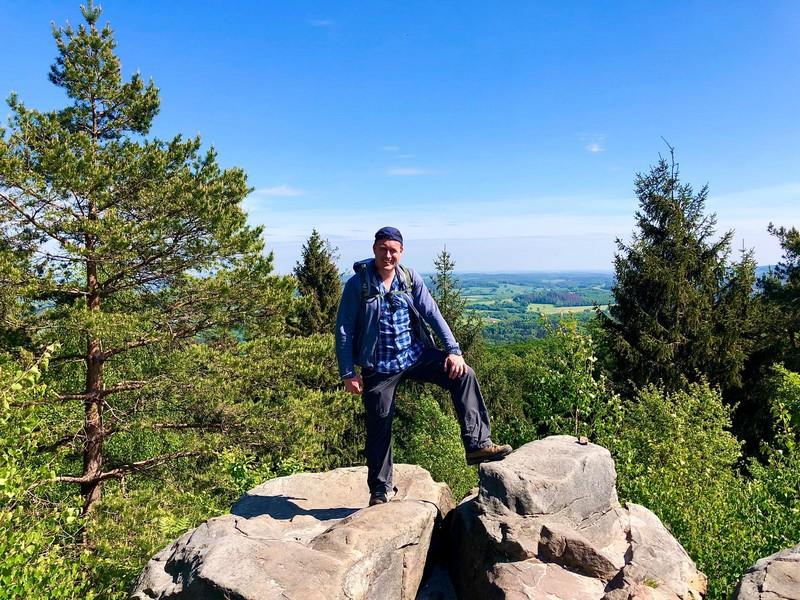 Zeit für ein Gipfelfoto mit Ausblick!