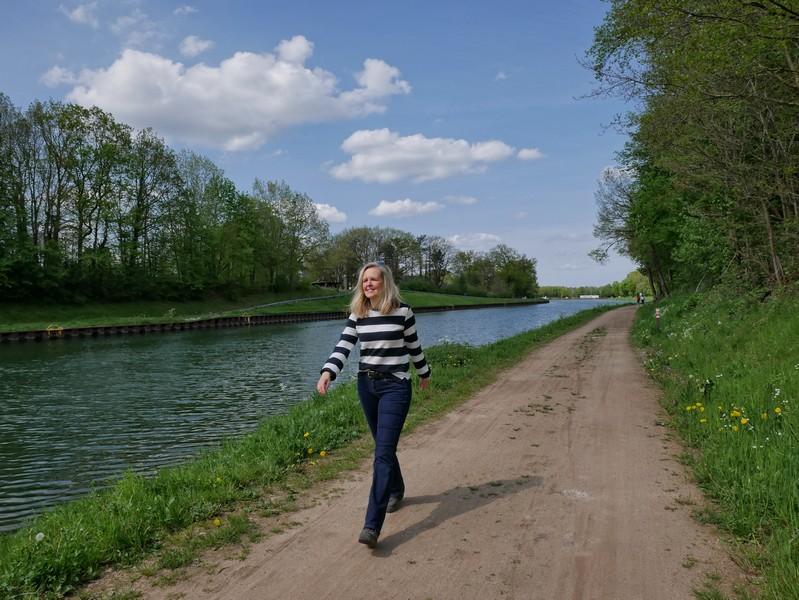 Das erste Stück auf dem TERRA.track Penter Egge folgt dem Osnabrücker Stichkanal.