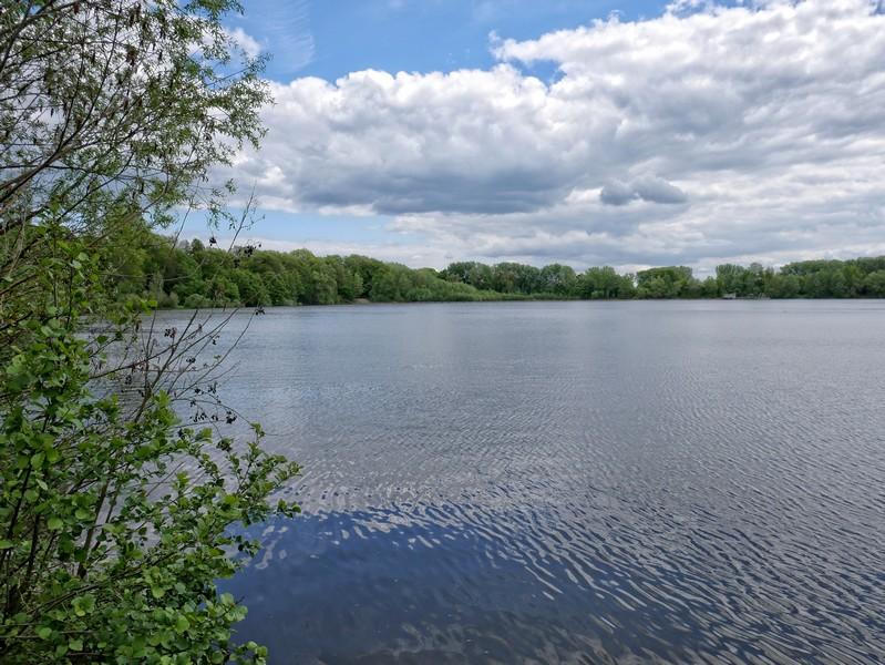 Den Baggersee umrunden wir am östlichen Ufer.